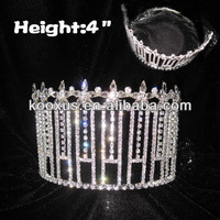 Clear Diamond Pageant Queen Crowns Tiara