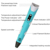 2017 hotsale kids 3D drawing pen digital drawing pen 3D magic doodle pen
