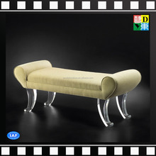 Elegant acrylic legs living room sofa chair Comfortable recliners with acrylic base