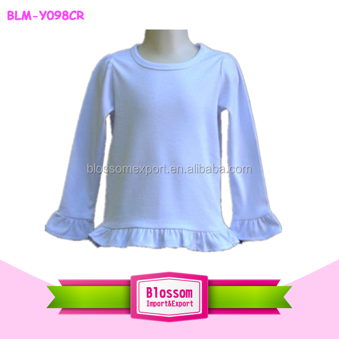 Custom Very Much for Sharing Cotton Toddler Long Sleeve Ruffle Shirt Top