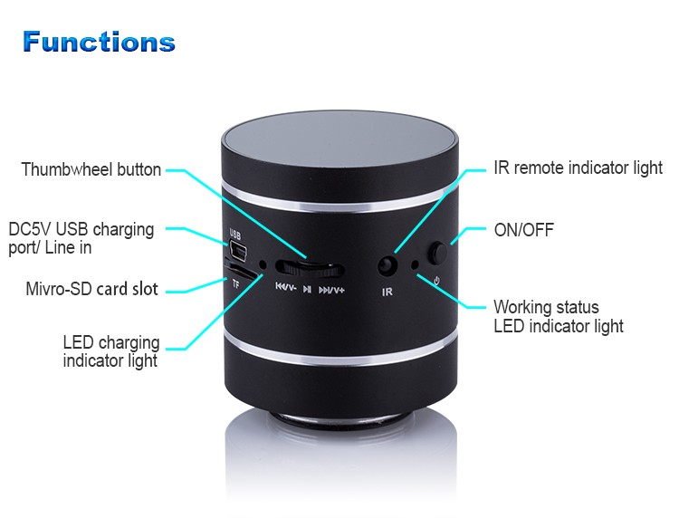 Hot sell OEM Mini hifi Portable adin 360 vibration speaker review