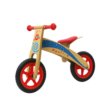 Cheap kids walking push bicycle balance no pedal wooden bike for training