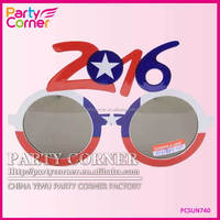 2016 printing Flag Plastic Party Glasses For New Year