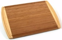ORGANIC Bamboo Wood Cutting & Kitchen Chopping Board with Groove - FDA Compliant - Extra Large