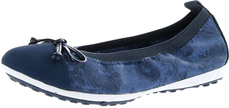 a21f37c52 Buy Geox Girls Junior Piuma Ballerina Silver Flat Shoes in Cheap ...
