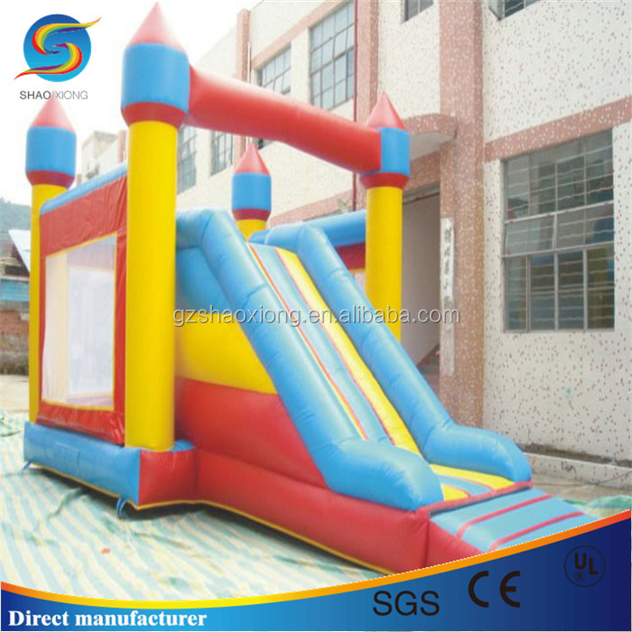 Kids inflatable jumping castle, outdoor inflatable castle, inflatable bouncy castle slide