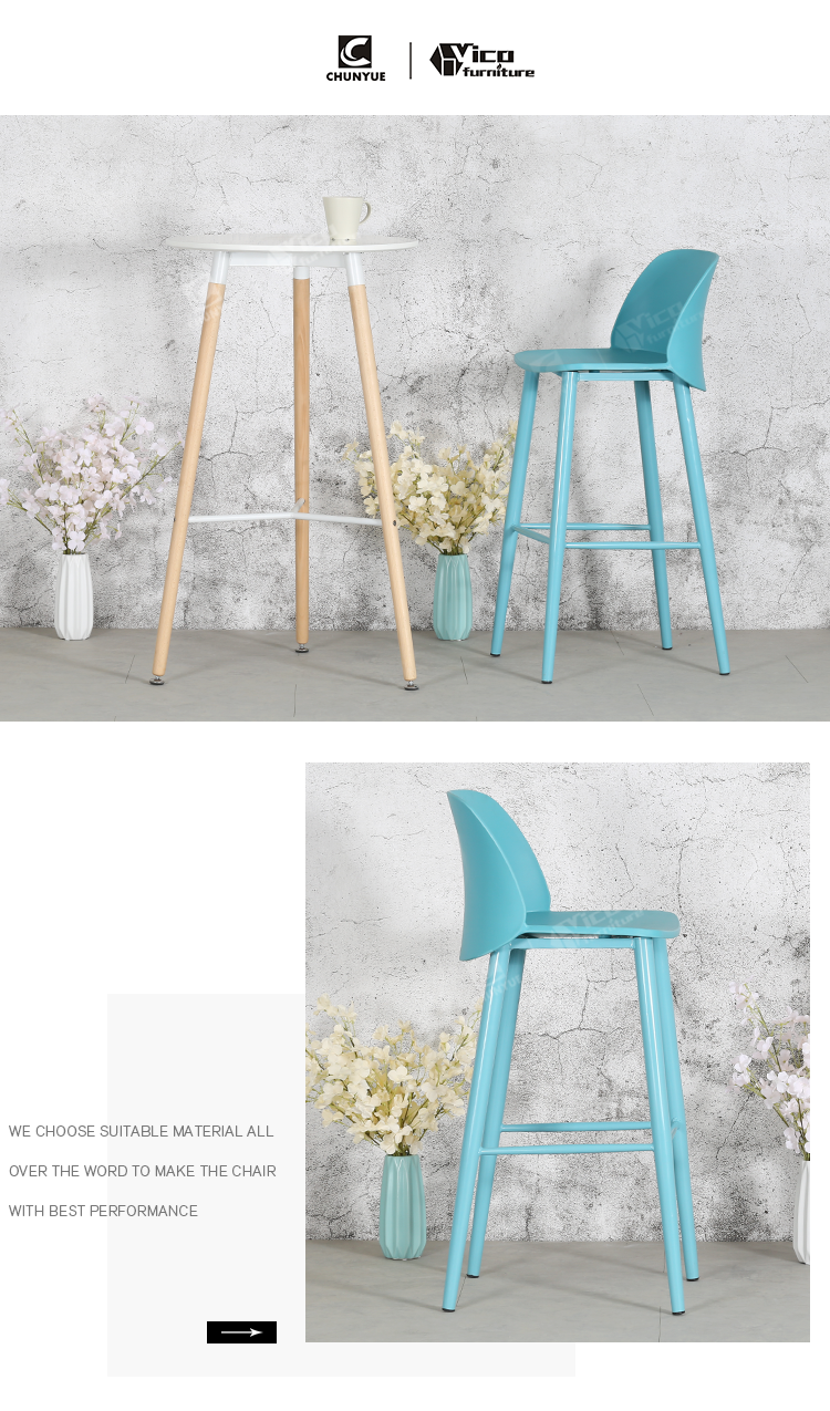 White Home Goods Kitchen Modern Bar Stools With Backs Buy Pp Resin Chair Nordic Polypropylene Plastic Coffee Shop Product On Alibaba Com