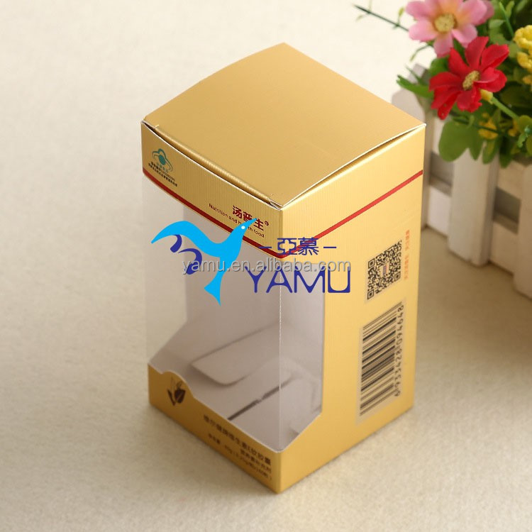 Gift box paper/Supplier Accept Custom PVC Window paper box/packaging box