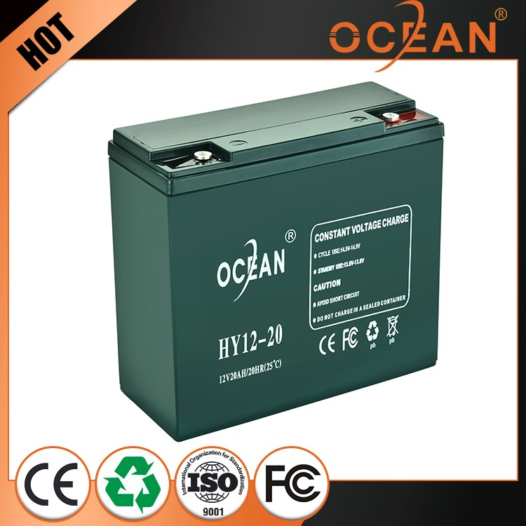 Real capacity huge capacity discharge current 12V 20ah AGM battery 12v