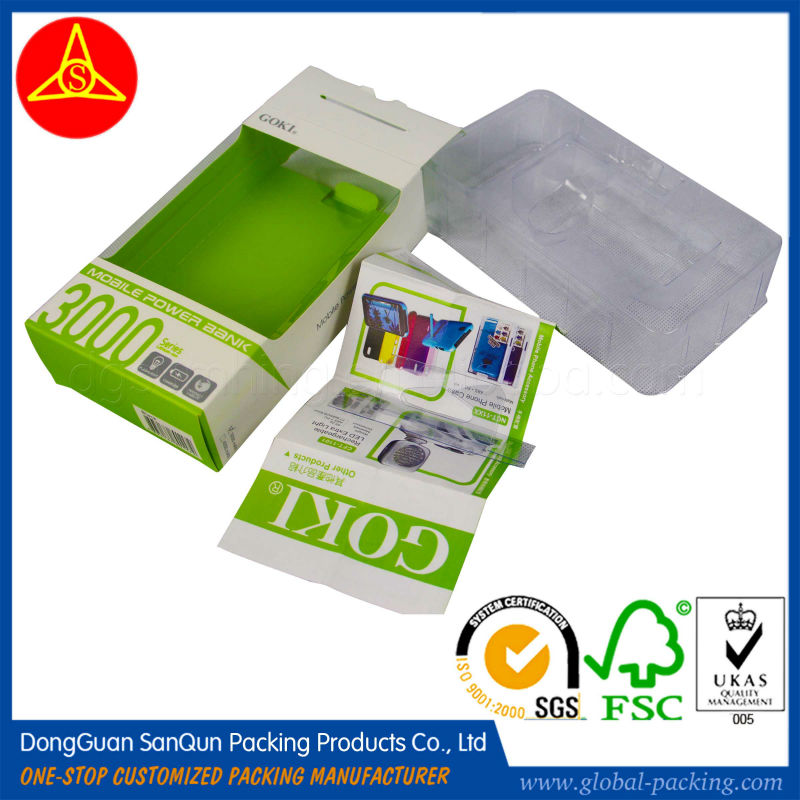 One set packing box for sale PET packaging box with instruction book blister box