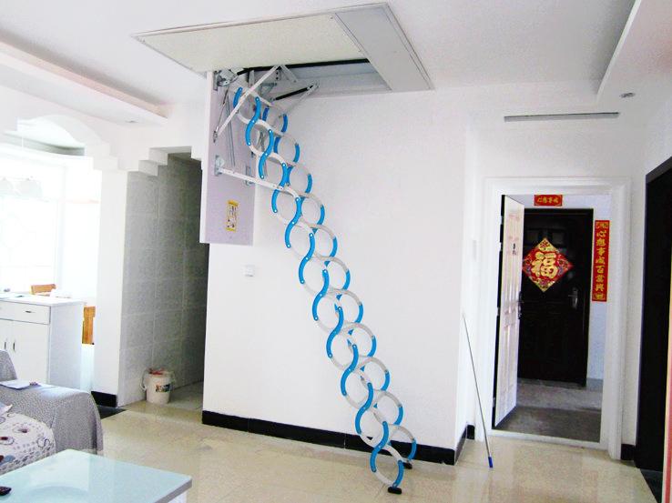 Retractable Metal Telescopic Loft Ladder Folding,folding Attic Stairs
