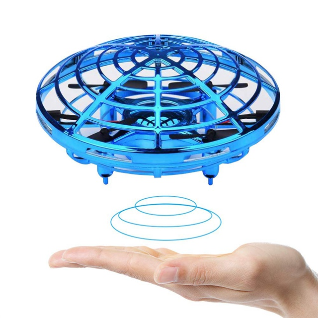 2019 iEZway Newest Amazon Aliexpress All-Around Infrared Induction Drone Hand Controlled Mini Drone UFO Interactive Aircraft