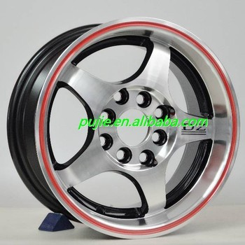 Hot selling car alloy wheel 13*60 red line