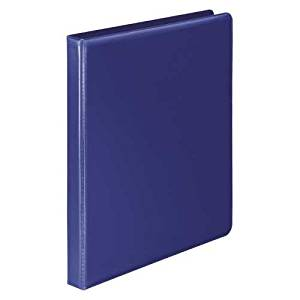 Wilson Jones Heavy Duty No-Gap Round Ring View Binder, 0.5 Inch Capacity, Letter Size, Blue (W363-13BLPP)