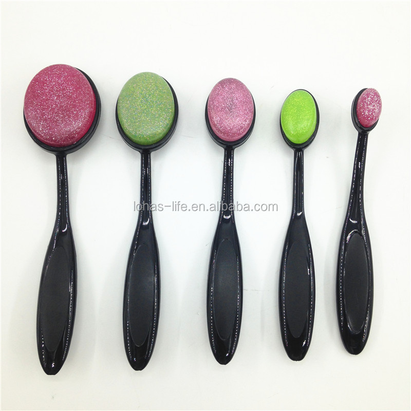 2018 new arrival oval silicone makeup brush sponge for make up