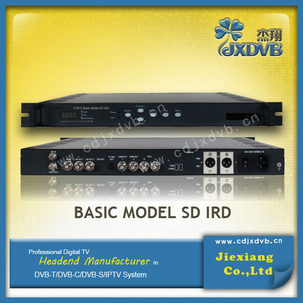 Cable TV free to air SD satellite IRD