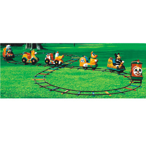 Shopping mall outdoor kids amusement rides backyard 6 seats electric mini train for sale
