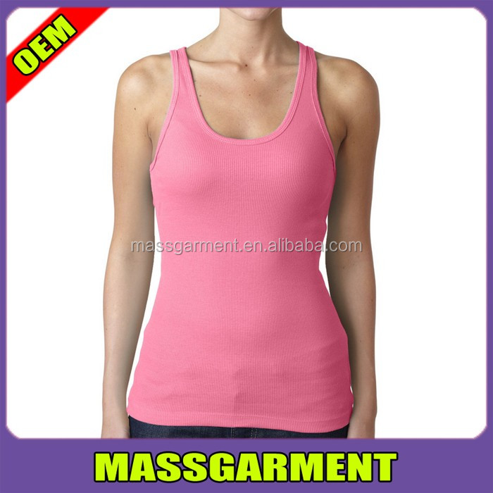 Hot sale comfortable elastic plain pink tank top next level 5003 tank top custom logo
