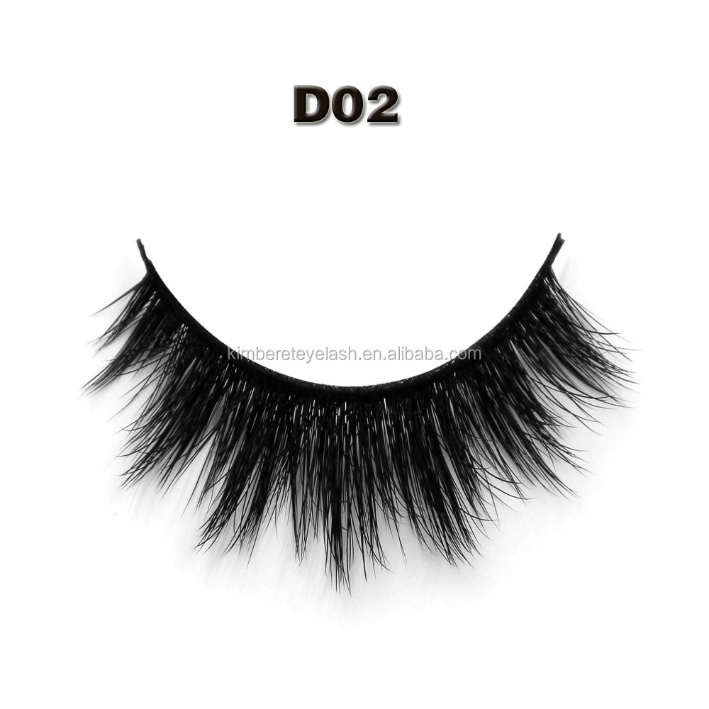 Clear band false eyelashes korean eyelashes 3d fiber lashes