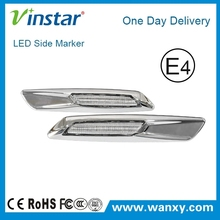 Clear lens+silver chrome finishes LED Side marker for bmw E81 E82 E87 E88 side marker light car accessories