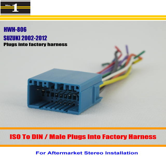 information about car radio iso wiring harness adapters car stereo radio iso wiring harness connector cable for suzuki