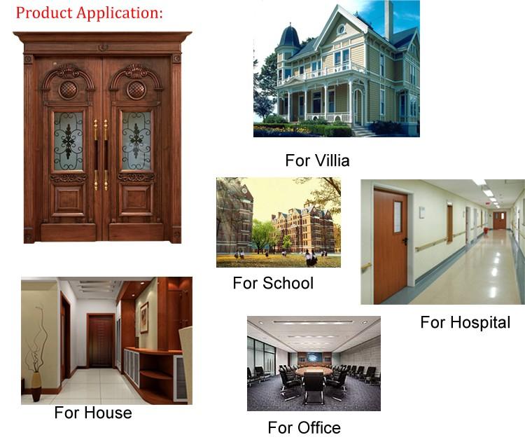 Latest Design Modern Wood Door With Glass,Wood Room Door/gate ...