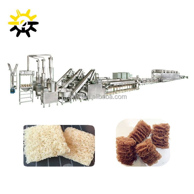 The automatic instant rice vermicelli making machine/Industrial instant Ramen noodle production line