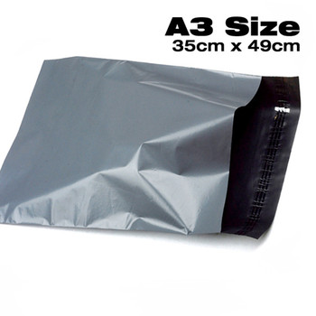 Grey Recycle Plastic Polythene Mailing Bag For Delivery Postage Parcel Packaging