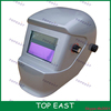 Silver Color solar powered auto-darkening protective welding mask with high quality