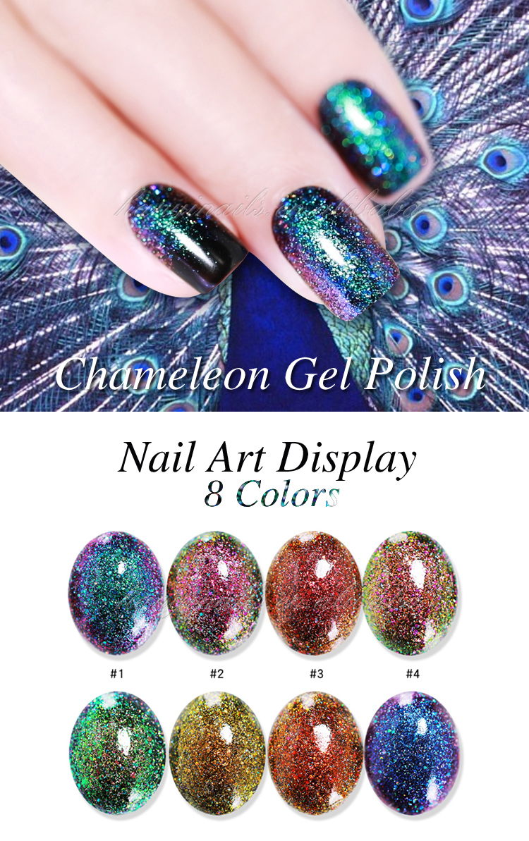 Nails global fashion Rainbow color Chameleon Vernis uv gel