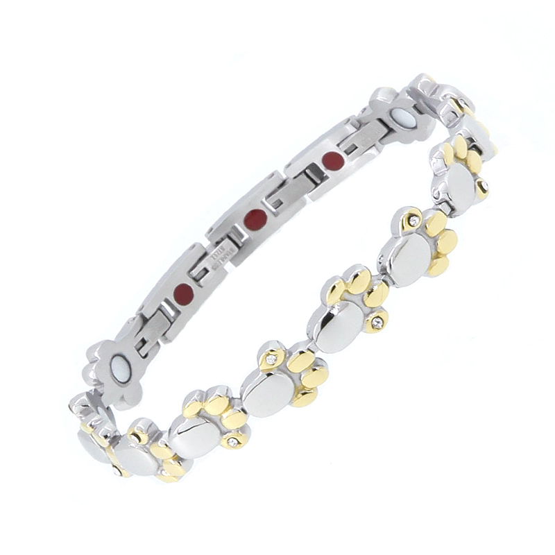 Nitrolube Jewelry Stainless Steel <strong>Energy</strong> <strong>Bracelet</strong> Lovely Dog Paw <strong>Magnetic</strong> <strong>Bracelet</strong>