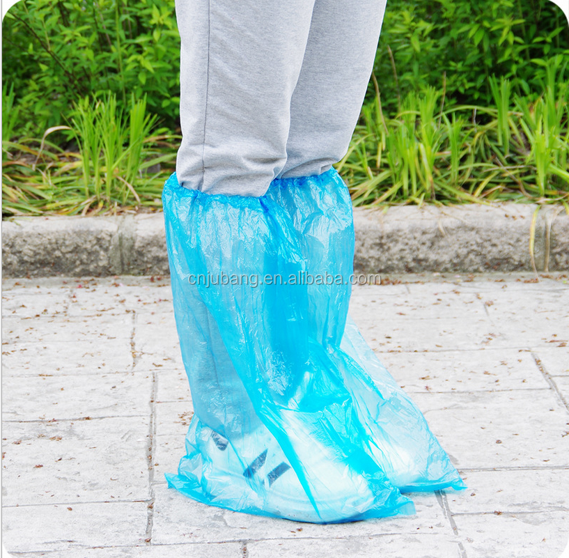 Disposable plastic rain shoe cover / waterproof rain boot / disposable plastic outdoor shoe covers