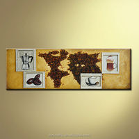 Cappuccino Coffee On Canvas Painting Hanged on Bar