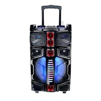 New Arrival Portable 12 Inch Trolley Speaker 100w Karaoke Tower Speaker With Dj Mixer Pa Speaker System