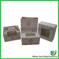 Custom bakery wholesale clear cupcake boxes