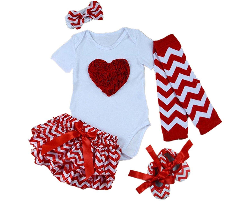 43834b5ed AISHIONY 5PCS Baby Girls' Newborn Tutu Onesie Outfit Princess Party Dress
