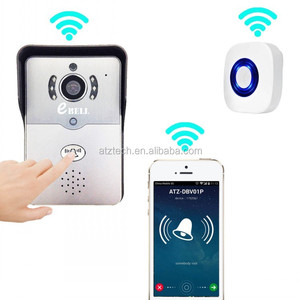 ATZ eBELL Smat WiFi IP Video Door Bell w/ RJ45 Port Home Security Guarder Match 433MHz Wireless Indoor Chime iOS & Android APP