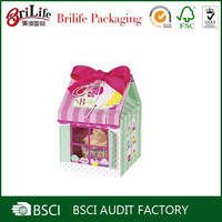 Elegant china supplier paper house shape cupcake boxes wholesale