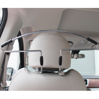 Universal Car Headrest Coat Hanger in Iron & ABS