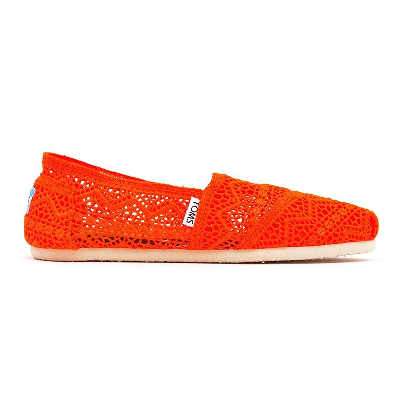 36476c3ab3a Get Quotations · TOMS Women s Neon Crochet Classic Slip-On