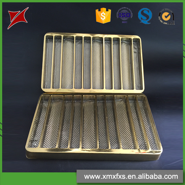 Wholesale chocolate disposable plastic PET golden blister tray
