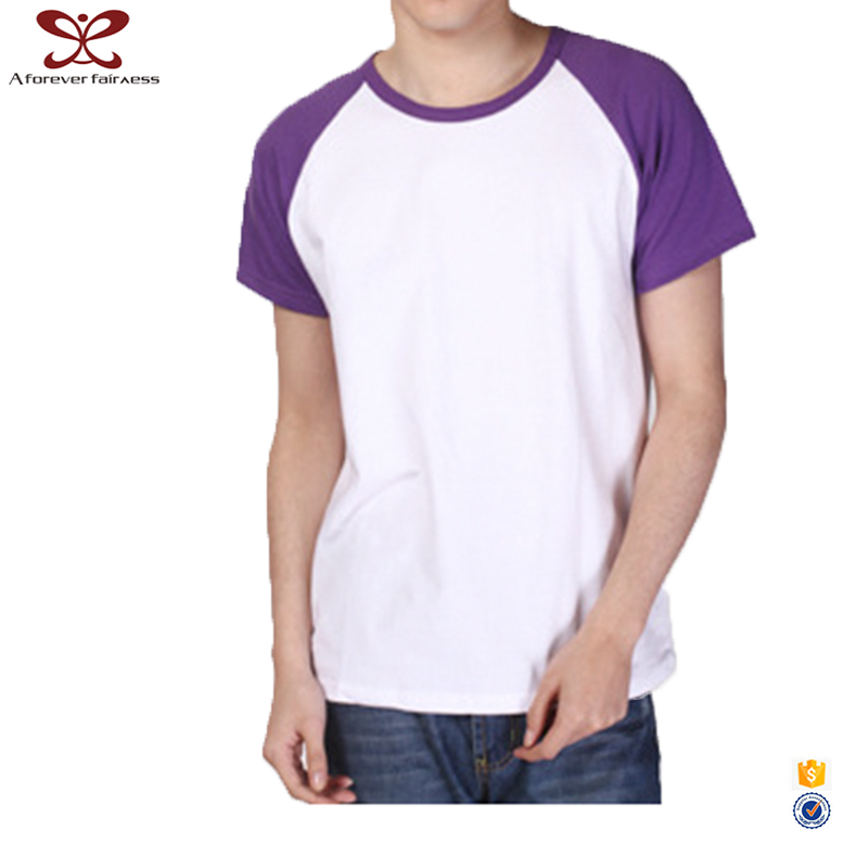 2017 New Style Mens Cotton Custom Tee Shirt Two Color T Shirt
