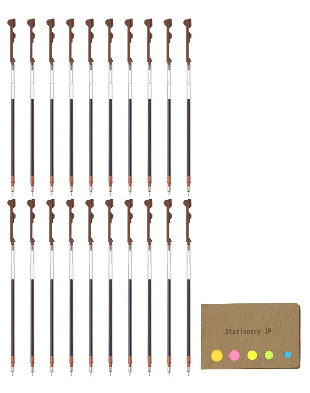 Pilot Hi-tec-c Coleto Gel Ink Pen Refill, 0.5mm, Brown Ink, 20-pack, Sticky Notes Value Set