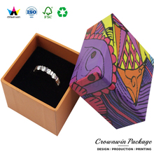 Wholesale Custom Printing Vintage Antique Jewelry Wedding Ring Box