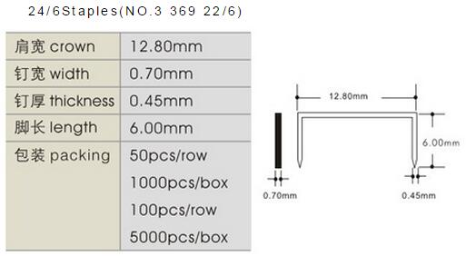 Office Staples 24/6(369) Wire 0.53 Mm Galv Or Copper Material ...