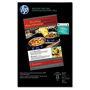 HP - Inkjet Brochure/Flyer Paper, 98 Brightness, 48lb, 11 x 17, White, 150 Shts/Pk - Sold As 1 Pack - High performance coating on both sides for two-sided printing with exceptional image quality.