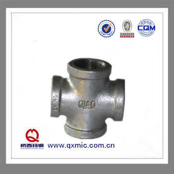 Plumbing Galvanized Cast Iron Pipe Fittings Cross4 Way Cross Pipe