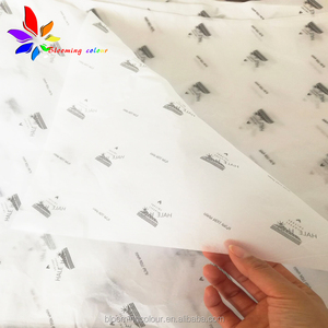 custom printing own logo 17gsm wrapping tissue paper for clothes gift packaging