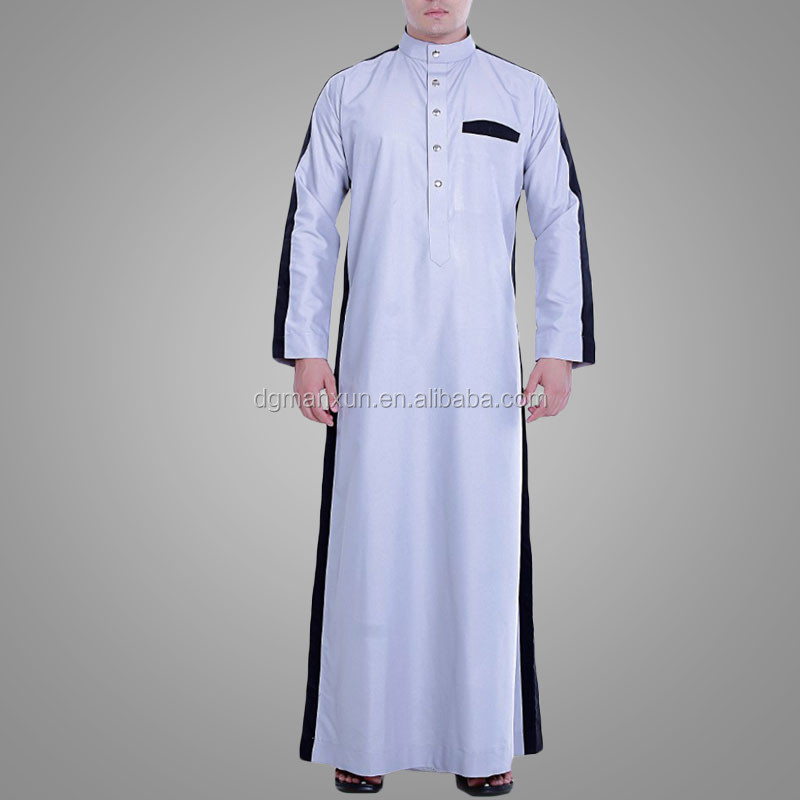 New design men islamic clothing full Length men jubah abaya