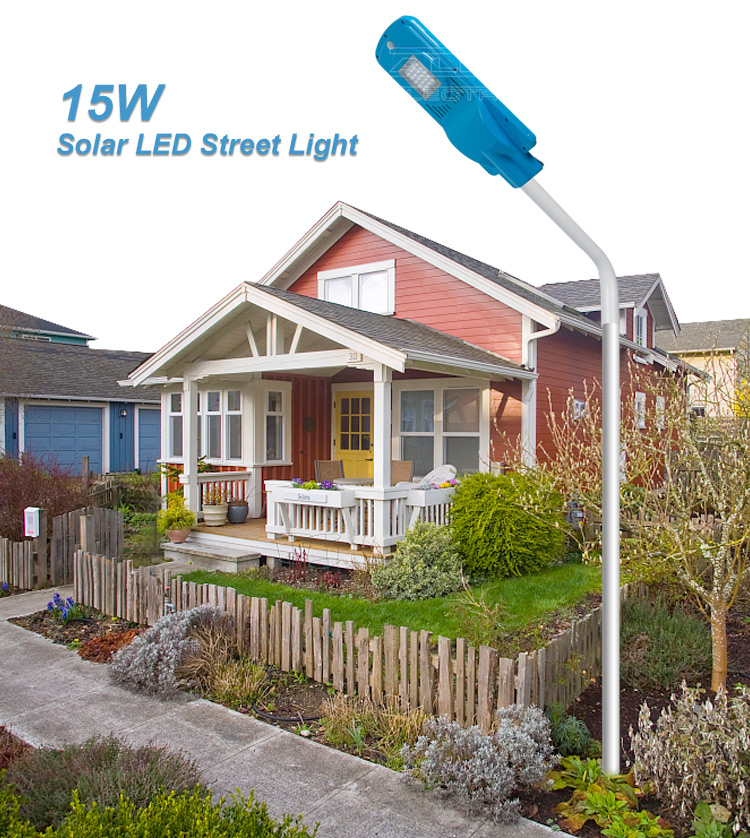 New Designs 15w ip65 integrated solar led street light manufacturers